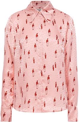 Baum und Pferdgarten Montana Floral-print Silk-satin Jacquard Shirt