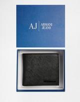 Armani Jeans Saffiano Faux Leather Billfold Wallet
