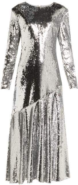 Racil Gilda Sequin Embellished Dress - Womens - Silver