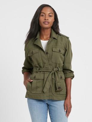 Banana Republic Heritage Cotton-Linen Safari Jacket