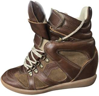 Etoile Isabel Marant Brown Leather Trainers