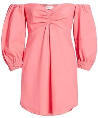 A.L.C. Mila Off-The-Shoulder Linen Mini Dress
