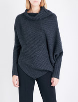 Stella McCartney Turtleneck asymmetric ribbed knitted jumper