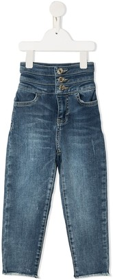 Twin-Set High Waisted Wide Leg Jeans