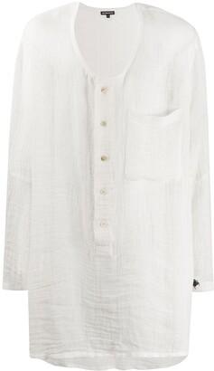 Ann Demeulemeester Long-Length Collarless Shirt