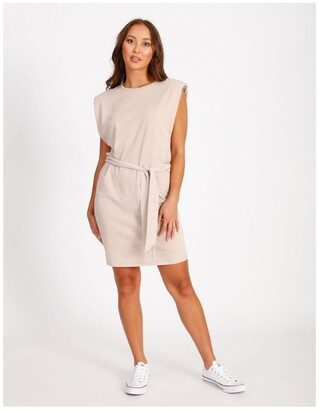 Miss Shop Shoulder Pad Tee Dress Old