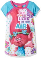 Dreamworks Poppy Put Your Hair In The Air Girls Nightgown