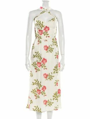 Reformation Floral Print Midi Length Dress