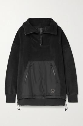 adidas by Stella McCartney Paneled Fleece And Shell Jacket - Black