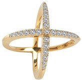 Elizabeth and James Windrose Pave Ring Ring
