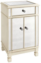 Pier 1 Imports Hayworth Mirrored Antique White Bedside Chest