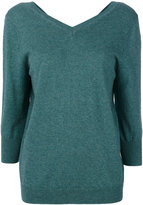 Etoile Isabel Marant Étoile v-neck knitted top - women - Cotton/Wool - 36