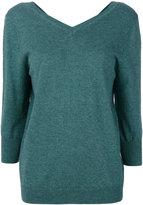 Etoile Isabel Marant Étoile v-neck knitted top - women - Cotton/Wool - 38