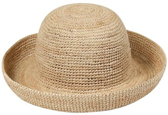 LACK OF COLOR Woven Straw Boat Hat
