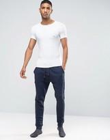 Emporio Armani Slim Cuffed Sweatpants In Navy