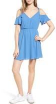 Lush Women's Surplice Cold Shoulder Dress
