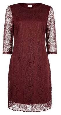 Dorothy Perkins Womens **Vila Mulberry Lace Shift Dress