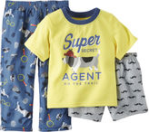 Carter's Short-Sleeve 3-pc. Dog Pajama Set - Baby Boys 12m-24m