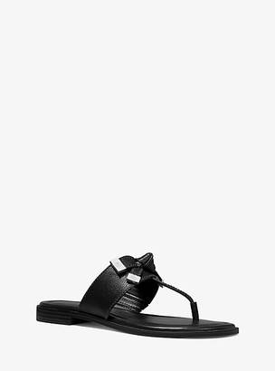 Michael Kors Ripley Leather Slide Sandal