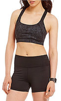 Calvin Klein Delineation Print Multi Strap Sports Bra