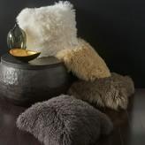 """Donna Karan Flokati Fur Decorative Pillow, 20"""" x 20"""""""