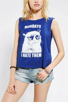 Urban Outfitters Grumpy Cat I Hate Mondays Muscle Tee