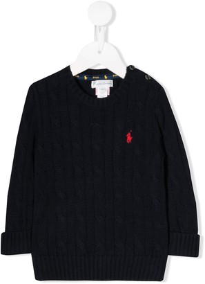 Ralph Lauren Kids cable knit Polo Pony sweater
