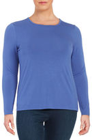 Lord & Taylor Plus Crewneck Knit Top