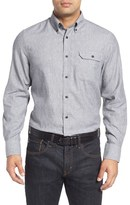 Nordstrom Regular Fit Herringbone Sport Shirt