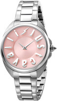 Just Cavalli 34mm Logo Stainless Steel Bracelet Watch, Pink