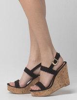 YOKI Braid Womens Cork Wedge Heels