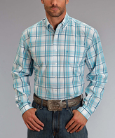 Stetson Blue Springs Plaid Button-Up