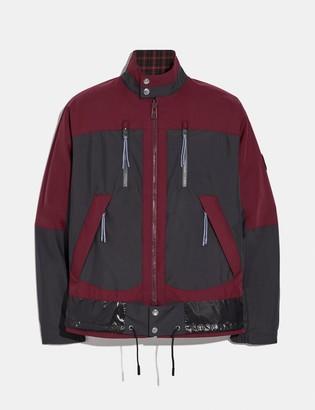 Coach Reversible Plaid Harrington Jacket