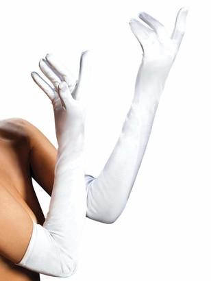 Seven Til Midnight Women's Satin Opera Length Gloves