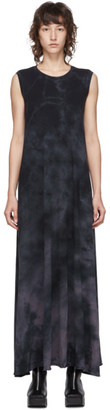 Raquel Allegra Black Tie-Dye Sleeveless Drama Dress