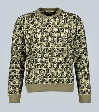 Fendi Camouflage print cotton sweatshirt