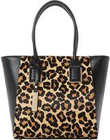 Dune Leopard-print shopper bag