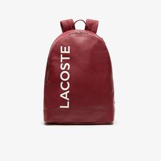 Lacoste Men's L.12.12 Signature Leather Zip Backpack