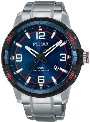 Pulsar Unisex Analogue Quartz Watch with Stainless Steel Plated Strap PS9477X1