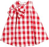 La Stupenderia Cotton Gingham Dress With Bow