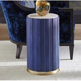 Lexington Carlyle End Table with Storage Table Base Color: Cobalt