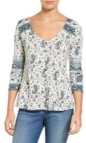 Lucky Brand Women's Paisley Swing Top
