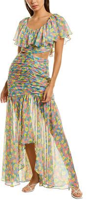 AMUR Amore Silk Maxi Dress