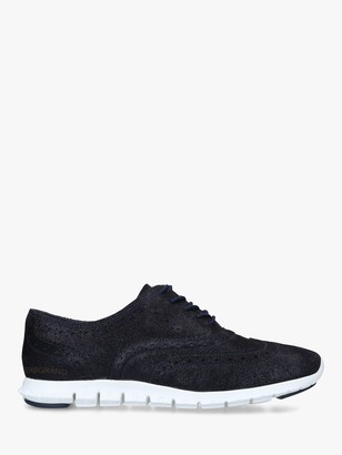 Cole Haan Zerogrand Stitchlite Lace Up Leather Trainers, Navy