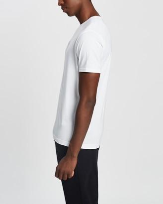 Sunspel Men's White Basic T-Shirts - Short Sleeve Classic Crew Neck T-Shirt - Size S at The Iconic