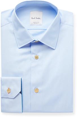 Paul Smith White Slim-Fit Cotton-Poplin Shirt