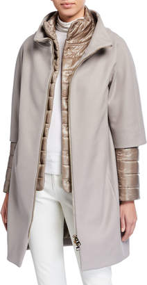 Herno Top Coat w/ Padded Underlay & Zip-Out Sleeves