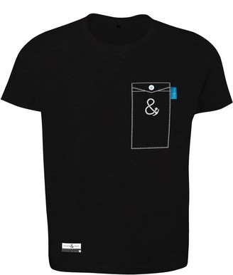 Anchor & Crew Noir Black Anchormark Print Organic Cotton T-Shirt Mens