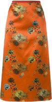 Dries Van Noten Selma Long floral cotton print skirt