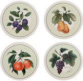 Mikasa Antique Orchard Set of 4 Assorted Fruit Coasters
